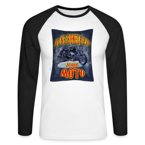 Je ne ronfle pas, je rêve que je suis une moto - T-shirt baseball manches longues Homme