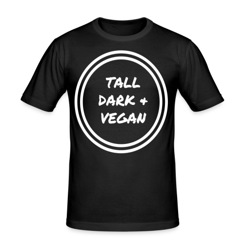 Tall Dark & Vegan Black T-shirt - Men's Slim Fit T-Shirt