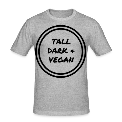 Tall Dark & Vegan Grey T-shirt - Men's Slim Fit T-Shirt