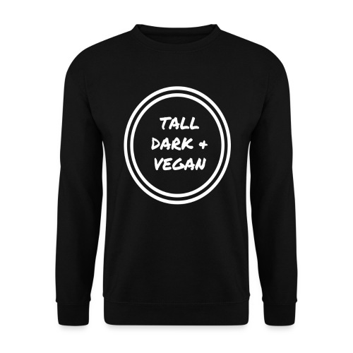 Tall Dark & Vegan Black Sweatshirt - Men's Sweatshirt