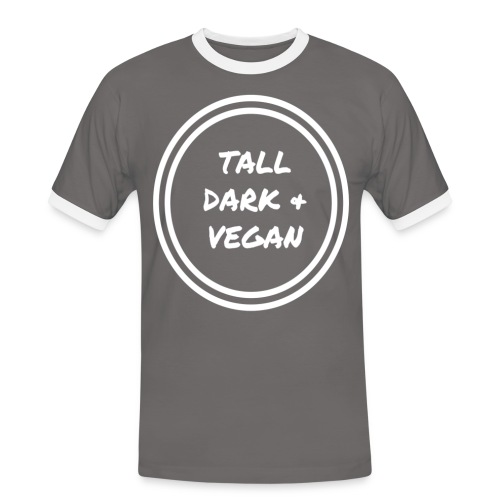 Tall Dark & Vegan Ringer Shirt - Men's Ringer Shirt