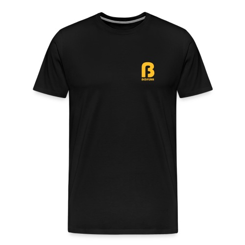 Men's Premium T-Shirt Black with Gold Bedfunk Logo  - Men's Premium T-Shirt