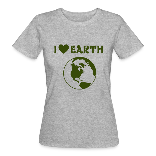 Ecologic T-shirt I Love Earth Women - Women's Organic T-Shirt