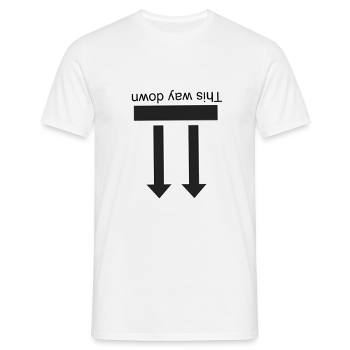 This way down (men) - Men's T-Shirt