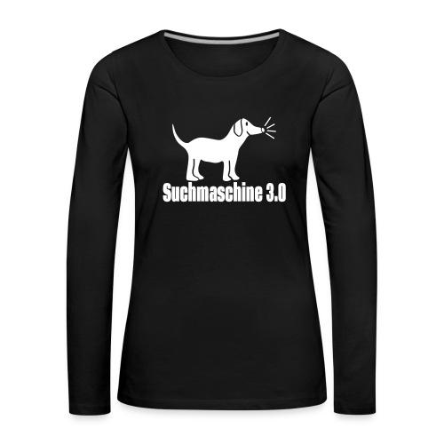 Nerd Hund Langarm Shirt - Frauen Premium Langarmshirt