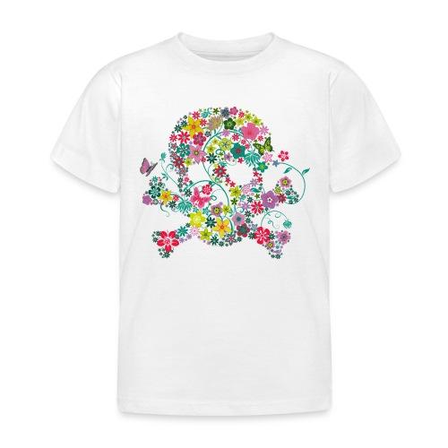 t-shirt enfant 3-4 ans  tête de mort fleurs d'été  - T-shirt Enfant