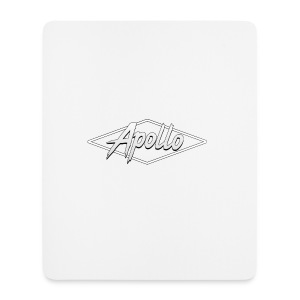 White Apollo Mousemat (Version 2) - Mouse Pad (vertical)