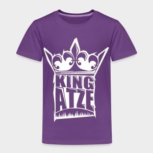 KING ATZE PURPLE KIDS SHIRT  LOGO WHITE - Kinder Premium T-Shirt