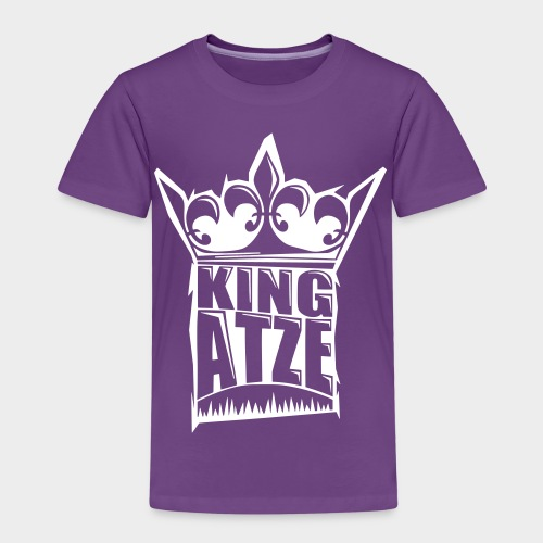 KING ATZE PURPLE KIDS SHIRT  LOGO WHITE - Kinder Premium T-Shirt