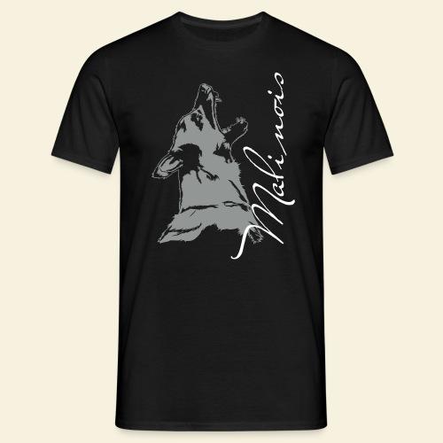 Malinois Verbeller mit Schriftzug - Männer T-Shirt