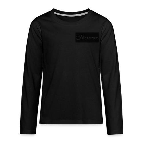 Hassanx: Black Long sleeve Teens - Teenagers' Premium Longsleeve Shirt