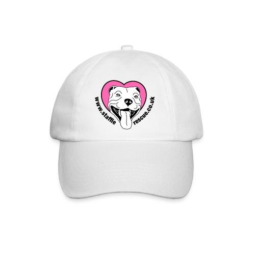 Staffie Rescue baseball cap (white) - Baseball Cap