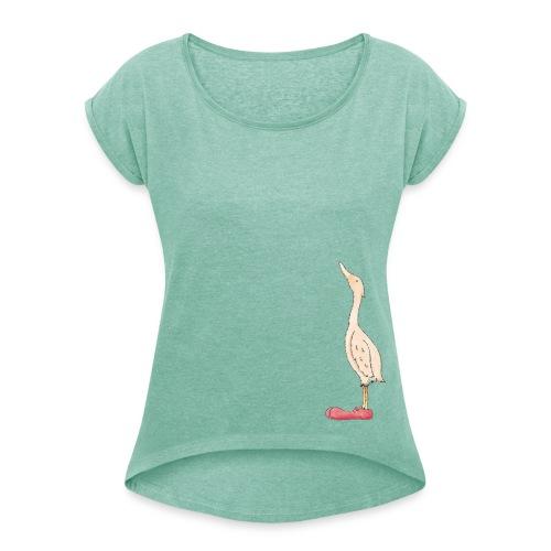 Eleonor wants to dance! - Frauen T-Shirt mit gerollten Ärmeln