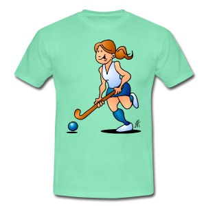 Field  hockey girl T-Shirts - Mannen T-shirt