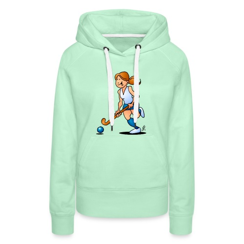 Field  hockey girl Hoodies & Sweatshirts - Women's Premium Hoodie