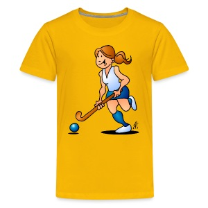 Field  hockey girl Shirts - Teenager Premium T-shirt