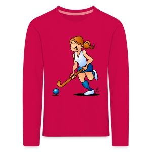 Field  hockey girl Long Sleeve Shirts - Kinderen Premium shirt met lange mouwen