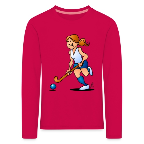 Field  hockey girl Long Sleeve Shirts - Kids' Premium Longsleeve Shirt