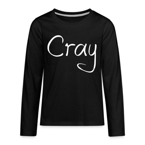 Cray Teenager Langärmel Sirt - Teenager Premium Langarmshirt