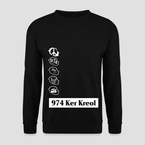 Sweat-shirt Homme 974 ker kreol - Sweat-shirt Homme