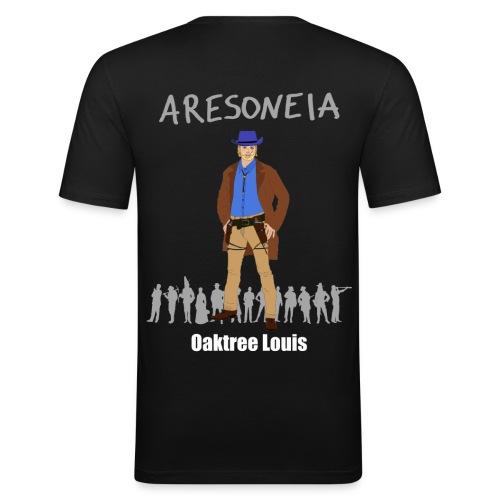 Aresoneia-Louis (Weiß) - Herren-Slim-Fit-Shirt - Männer Slim Fit T-Shirt
