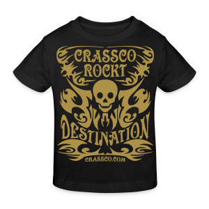 SKULL DESTINATION Gold-Glitzer - Kinder Bio-T-Shirt