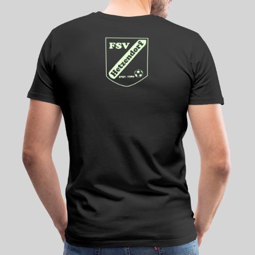 Männer Premium T-Shirt - leuchtendes Logo am Rücken...