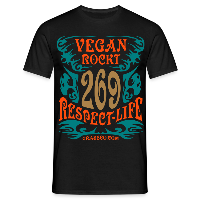 VEGAN RESPECT LIFE (mit Gold-Effekt)