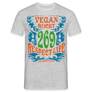 VEGAN RESPECT LIFE - Männer T-Shirt