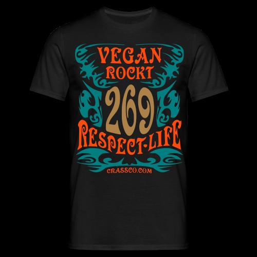 VEGAN RESPECT LIFE (mit Gold-Effekt) - Männer T-Shirt