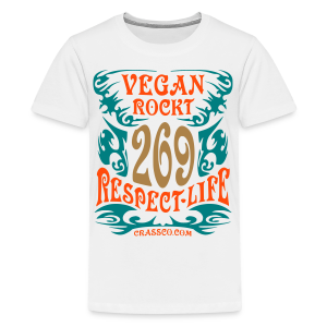 VEGAN RESPECT LIFE (mit Gold-Effekt) - Teenager Premium T-Shirt
