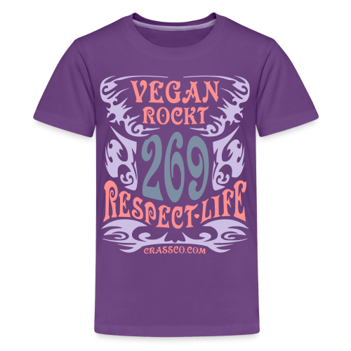 VEGAN RESPECT LIFE (mit Silber-Effekt) - Teenager Premium T-Shirt