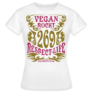 VEGAN RESPECT LIFE (mit GOLD-Effekt) - Frauen T-Shirt