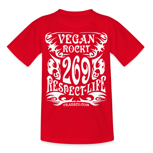 VEGAN RESPECT LIFE (Weiß-Glitzer) - Teenager T-Shirt