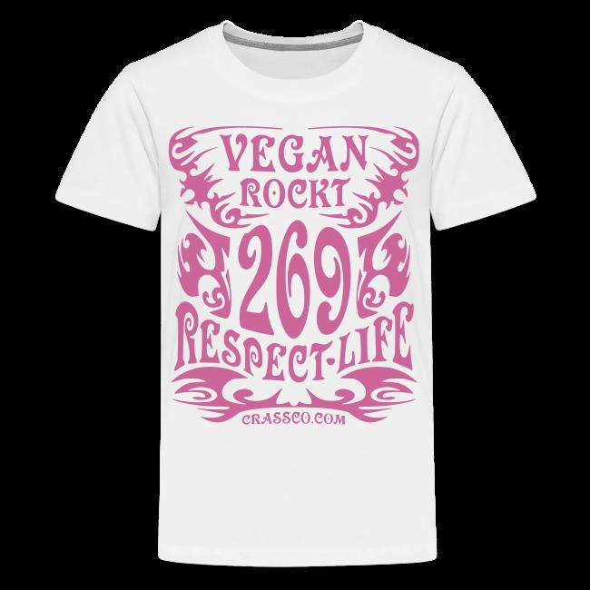 VEGAN RESPECT LIFE (Pink-Glitzer)
