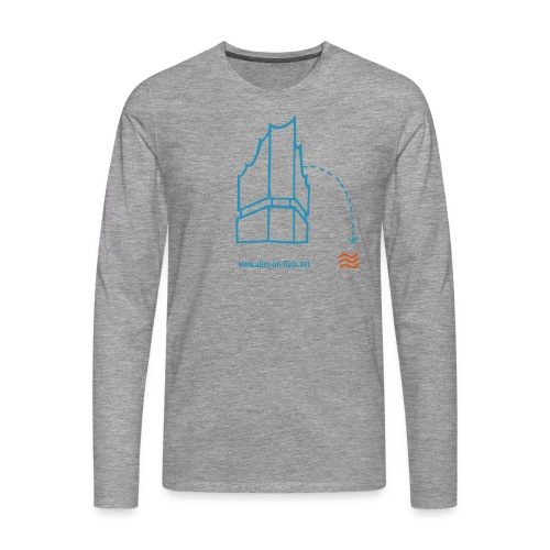 Grey Longsleeve Alles im Fluss - Männer Premium Langarmshirt