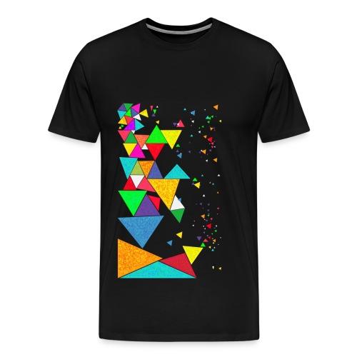 Crazy triangle Shirt - men - Männer Premium T-Shirt