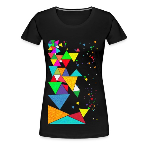 Crazy triangle Shirt - women - Frauen Premium T-Shirt