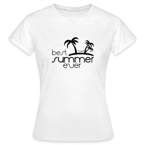 Best Summer Ever Graphic Ladies T-shirt - Women's T-Shirt