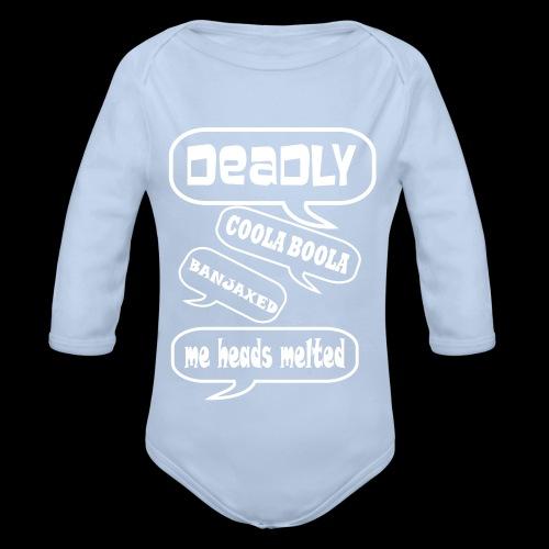 Deadly Dublin - Organic Longsleeve Baby Bodysuit