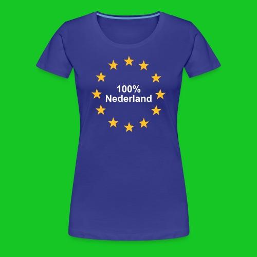100% Nederland damesshirt - Vrouwen Premium T-shirt