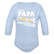 Baby Bodys ~ Baby Langarm-Body ~ Wenns da Papa ned richtn kau - bringts kana zaum.
