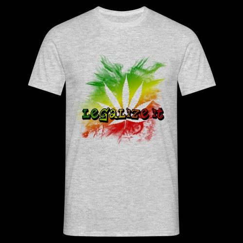 WK Antisocial Männer T-Shirt Legalize it - Männer T-Shirt