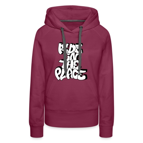 Sweat (Fille) Ride In The Place Graff Bordeaux - Sweat-shirt à capuche Premium pour femmes