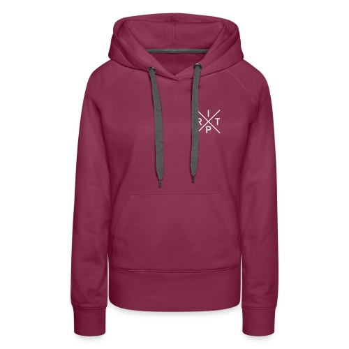 Sweat (Fille) Ride In The Place Classic Bordeaux - Sweat-shirt à capuche Premium pour femmes