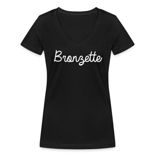 BRONZETTE - T-shirt bio col V Stanley & Stella Femme