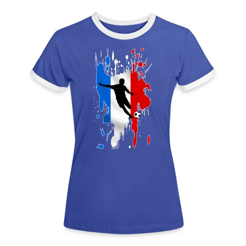 Football France - Women's Ringer T-Shirt