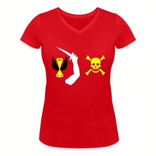 Tee shirt col V Femme Christopher Moody Flag - T-shirt bio col V Stanley & Stella Femme