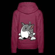 Hoodies & Sweatshirts ~ Women's Premium Hoodie ~ Play Time Bull Terrier