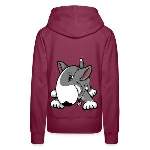 Play Time Bull Terrier Grey - Women's Premium Hoodie